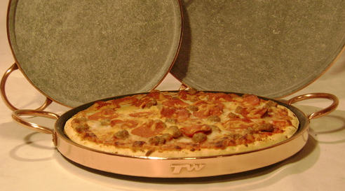 Pizza Stone With Copper Handles
